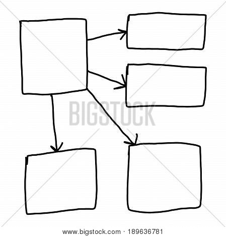 symbols geometric shapes graph to input information concept on white background.