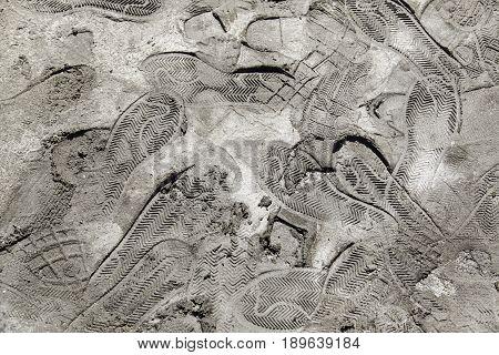 Footprints In The Mud