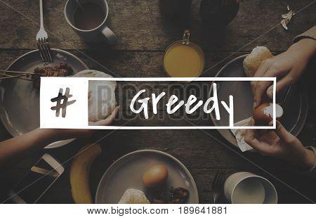 Breakfast food recipe greedy foodie word