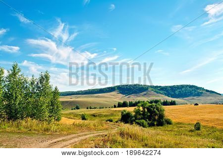 Landscape With Hills And Road