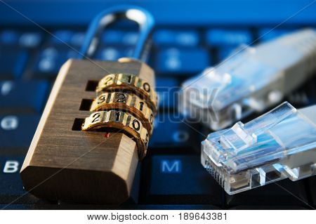 concept of security in the Internet. data, network,