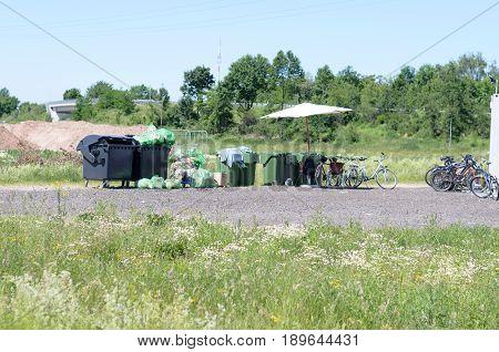 Rural Garbage Tips Alongside Earthworks