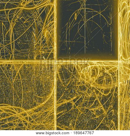 Grunge background for your design, aged shabby texture with different color patterns: yellow (beige); brown; gray; black