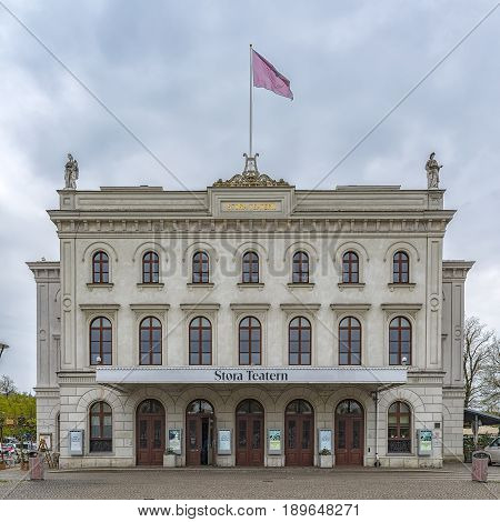 GOTHENBURG SWEDEN - MAY 13 2017: The stora teatern. This is the old Theatre in Gothenburg also called Storan. Today it is a place for music and concerts.