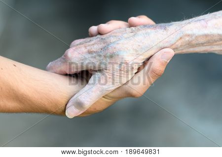 Old And Young Man Shaking Hands