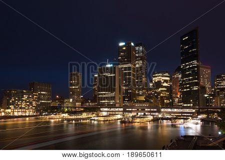 Sydney Cbd Cityscape At Night