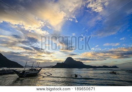 Landscape Of Tropical Sea In Palawan, Philippines