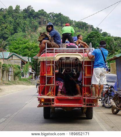 Street At El Nido Town In Palawan, Philippines