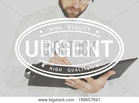 Urgent label icon stamping for verified