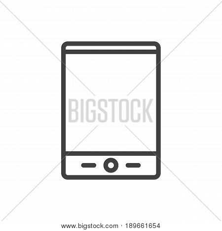 Isolted Palmtop Outline Symbol On Clean Background. Vector Tablet Element In Trendy Style.