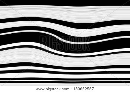Black and white abstract wave pattern