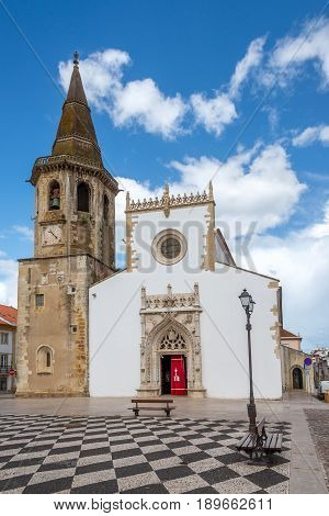 Church of St.John Baptist at the place of Republic in Tomar - Portugal