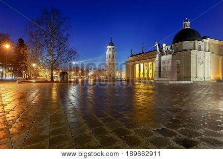 Vilnius. Cathedral of St. Stanislaus in the central square.