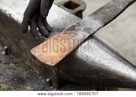 Red Hot Iron In A Forge