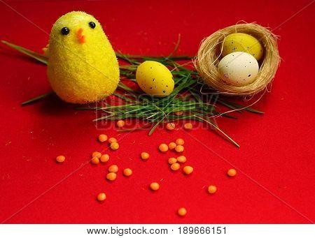 Toy chicken egee new life birth nest
