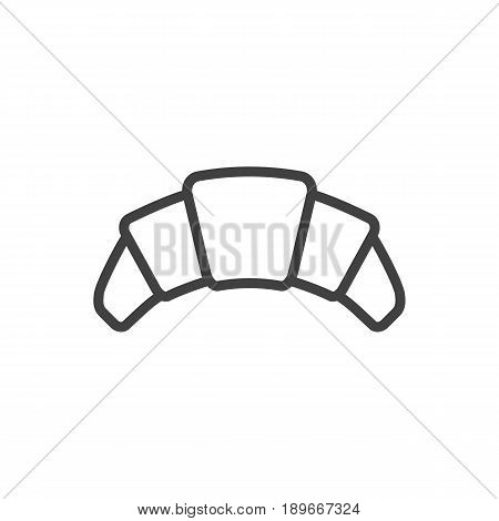 Isolted Dessert Outline Symbol On Clean Background. Vector Croissant Element In Trendy Style.