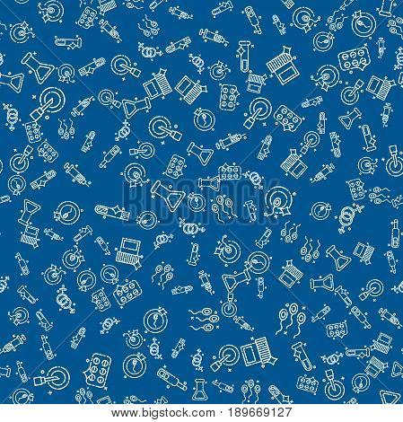 Artificial insemination pattern. Vector illustration EPS 10