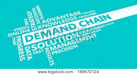 Demand chain Presentation Background in Blue and White