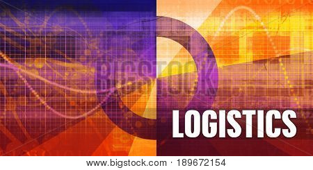 Logistics Focus Concept on a Futuristic Abstract Background