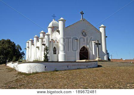 The church of the mine of Sao Domingos in Mertola.