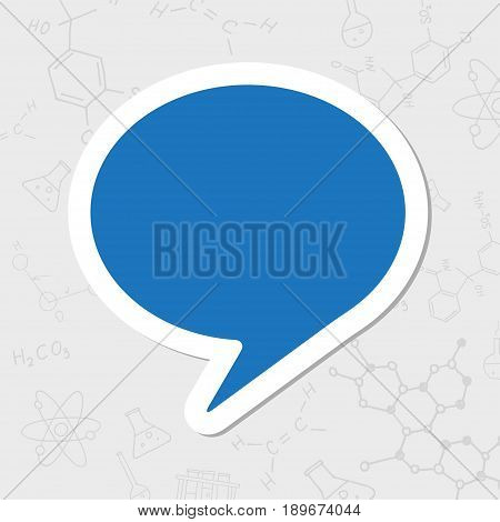 Vector flat sticker callout icon on white background