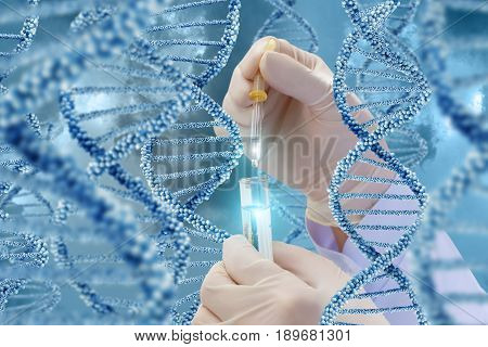 Dna Research With A Sample.