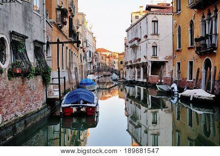 Venice Italy - scenic view of a venetian canal