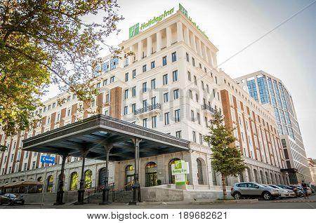 UFA, RUSSIA. June 2016. Brand new Holiday Inn hotel built in central Ufa, Bashkortostan