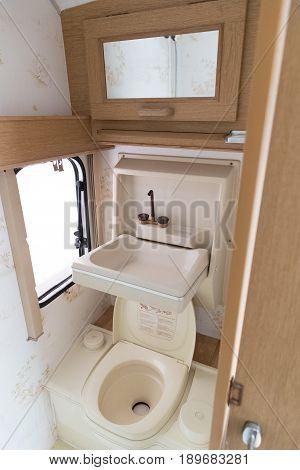 Bathroom Inside A Caravan