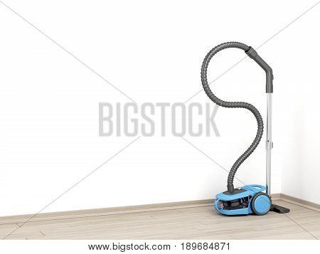 3D illustration of modern bagless vacuum cleaner