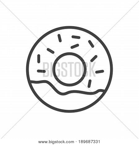 Isolted Doughnut Outline Symbol On Clean Background. Vector Donuts Element In Trendy Style.
