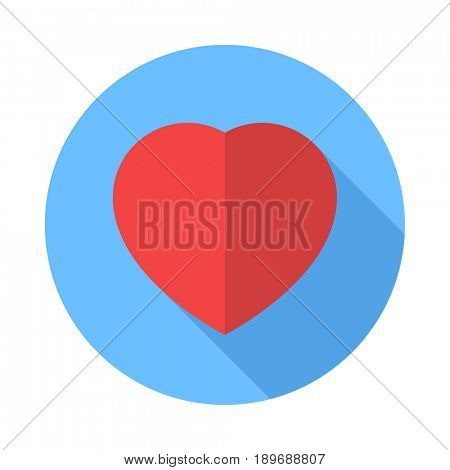 Heart icon. Flat Design icon