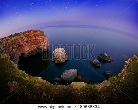 seascape by night in summer