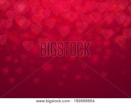 Valentine's day. Red hearts background