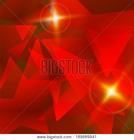 Abstract red shining star vector background. Magic fantasy elegant decoration.