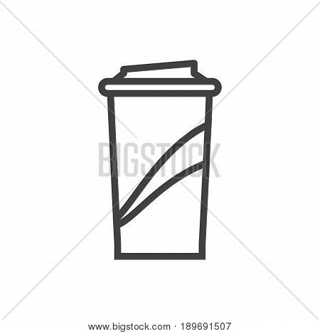 Isolted Beverage Outline Symbol On Clean Background. Vector Soft Drink Element In Trendy Style.