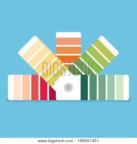 Color swatches book. Color palette guide. Color swatch icon.