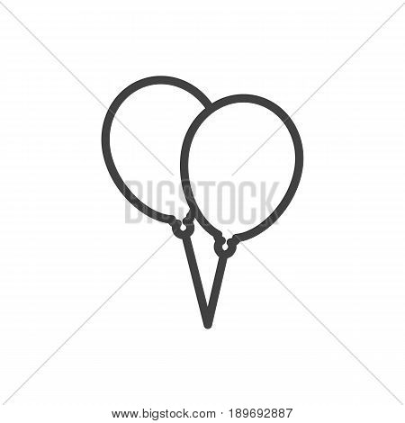 Isolted Decoration Outline Symbol On Clean Background. Vector Balloon Element In Trendy Style.