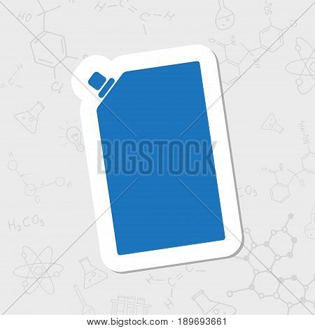 Vector flat sticker mayonnaise plastic package icon on white background