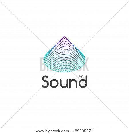 Sound Audio music wave logo design vector. Business icon symbol.