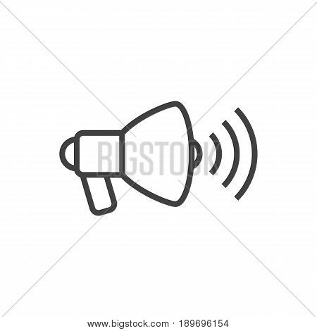 Isolted Speaker Outline Symbol On Clean Background. Vector Loudspeaker Element In Trendy Style.
