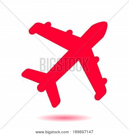 Plane icon. Travel symbol. Airplane plane from the bottom sign.