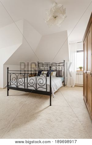 Bedroom With White Carpet