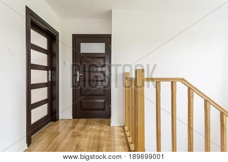 Wooden Staircase Upstairs