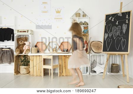 Child Room With Wooden  Furniture