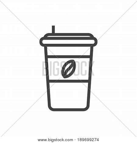 Isolted Espresso Outline Symbol On Clean Background. Vector Cappuccino Element In Trendy Style.
