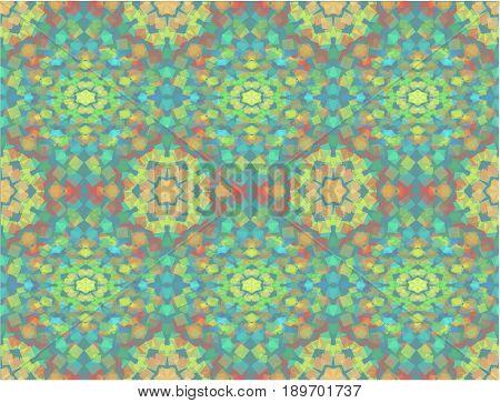 Kaleidoscope background. seamless abstract vector illustration- 10 EPS