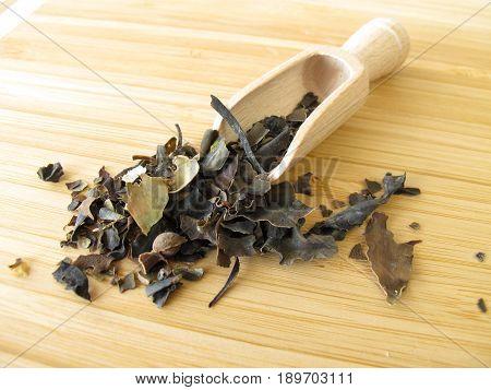 Dried seaweed, Fucus vesiculosus, for herbal medicine