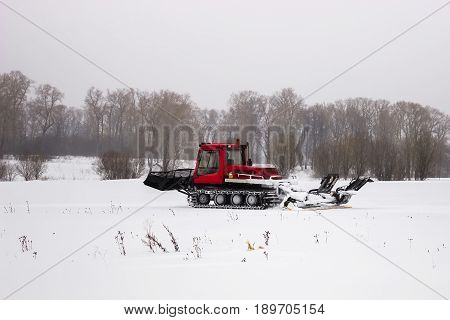A machine for preparing a ski slope. Ratrak
