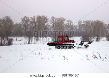 The machine for laying the ski slope. Ratrak